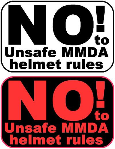 Protest Against MMDA Sticker