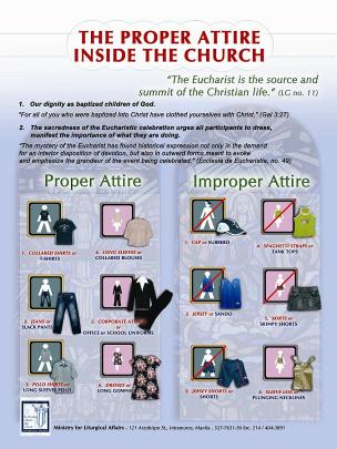 Poster of Proper Attire for Mass